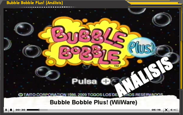 Vídeo-Análisis Bubble Bobble Plus! de WiiWare