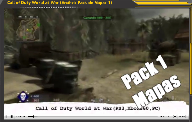 Vídeo-Análisis de Call of Duty World at War - Pack Mapas 1