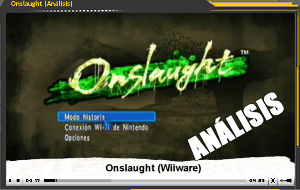 Vídeo-Analisis Onslaught (Wiiware)