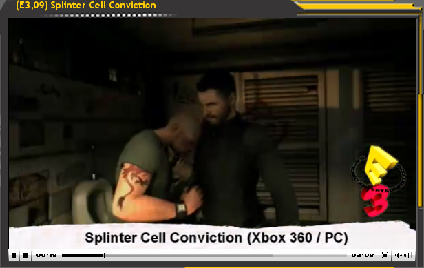 Especial E3'09: Splinter Cell Conviction