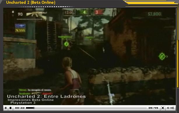 Vídeo-Avance de Uncharted 2 (Beta Online)