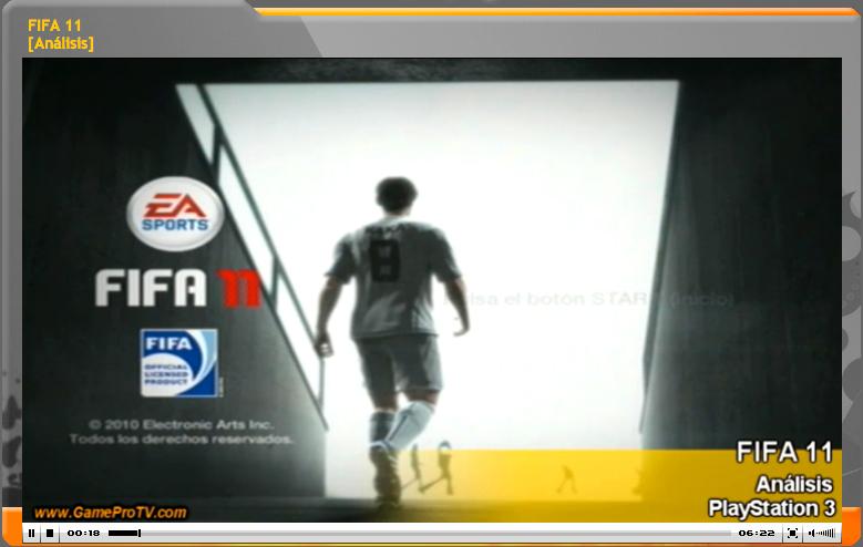 Vídeo-análisis de FIFA 11 (www.gameprotv.com)