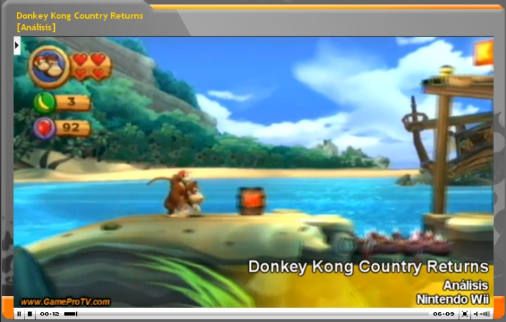 Vídeo análisis Donkey Kong Country Returns (www.gameprotv.com)
