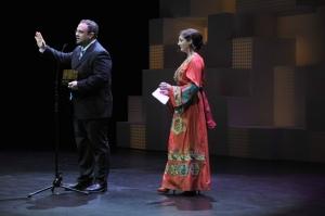 Justin Richmond recogió el premio de manos de Espido Freire