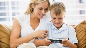 mom and son videogames