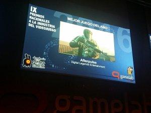 El galardón al mejor videojuego del año 2016 fue para Afterpulse de Digital Legends
