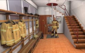 Bomberos virtuales se preparan para una situación de emergencia