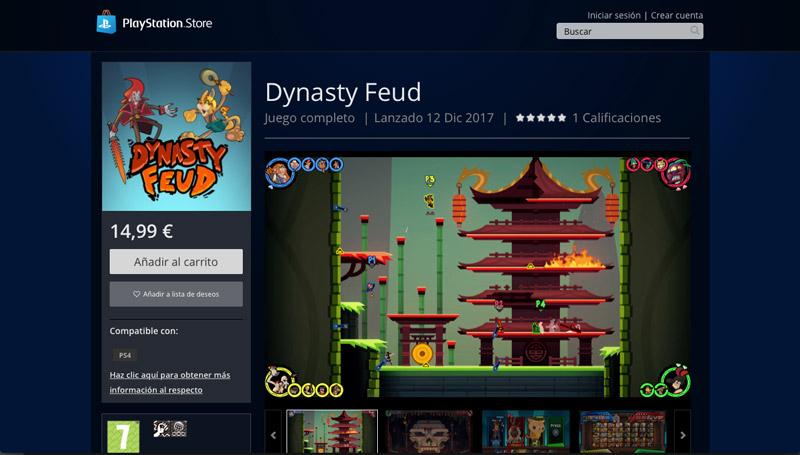 Figthing Brawler Dynasty Feud on PS4
